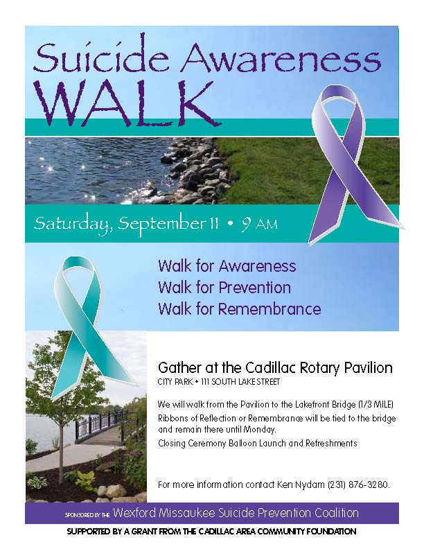 Northern Lakes Community Mental Health | Suicide Awareness Walk September 11, 2010